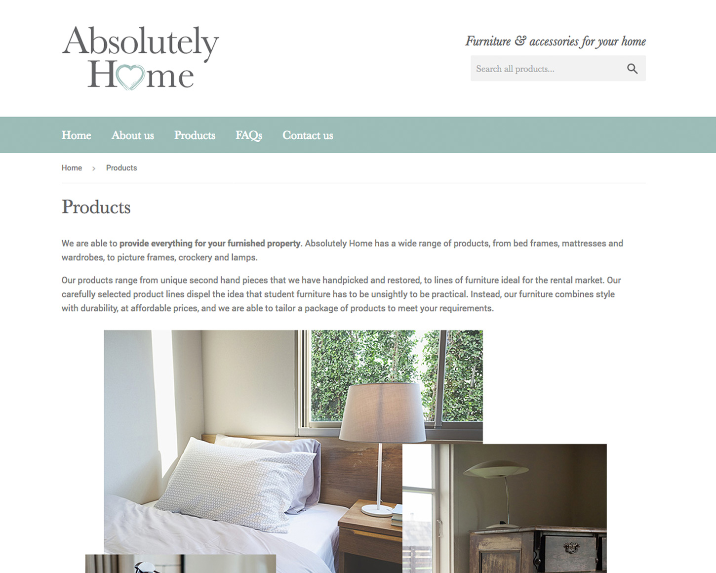 Absolutely Home website