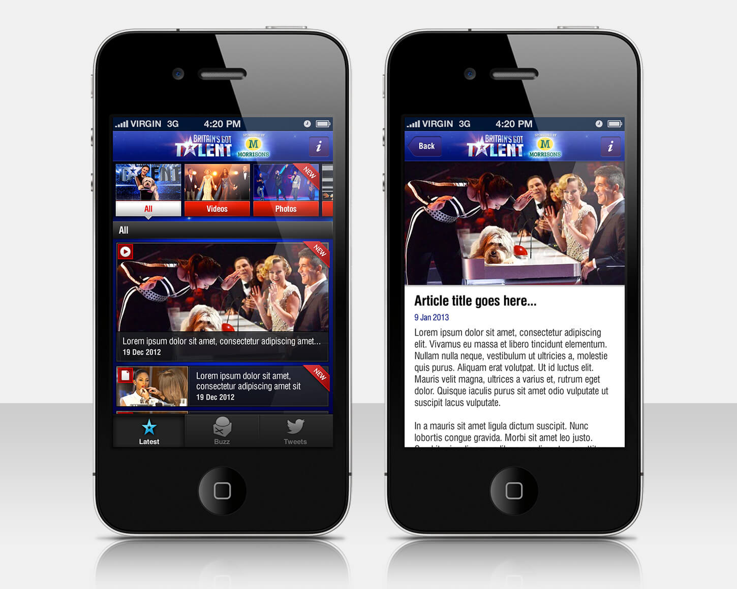Britain's Got Talent 2013 - iPhone app