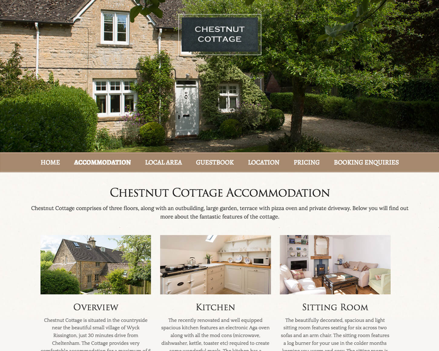 Chestnut Cottage website