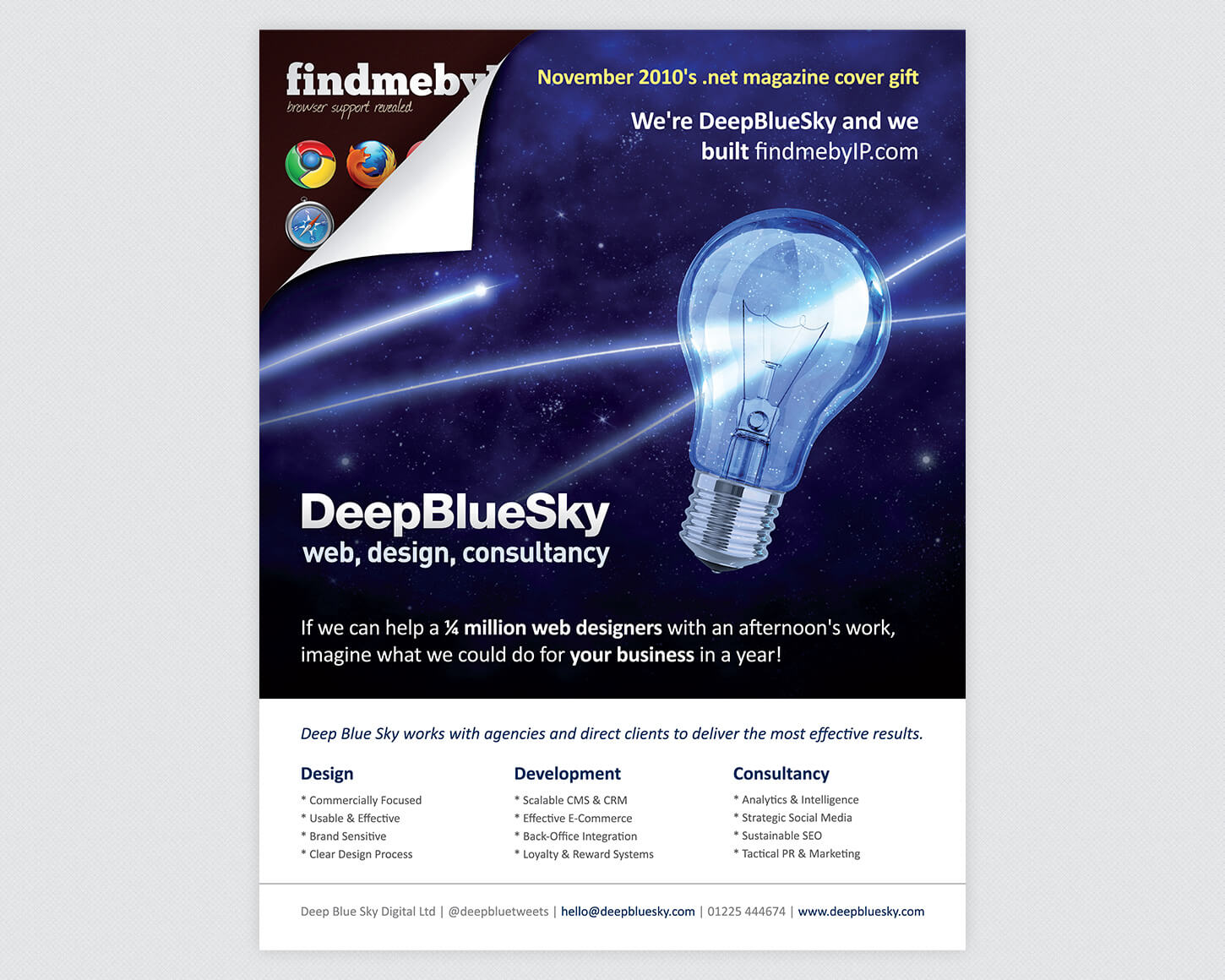 Deep Blue Sky .net magazine advert