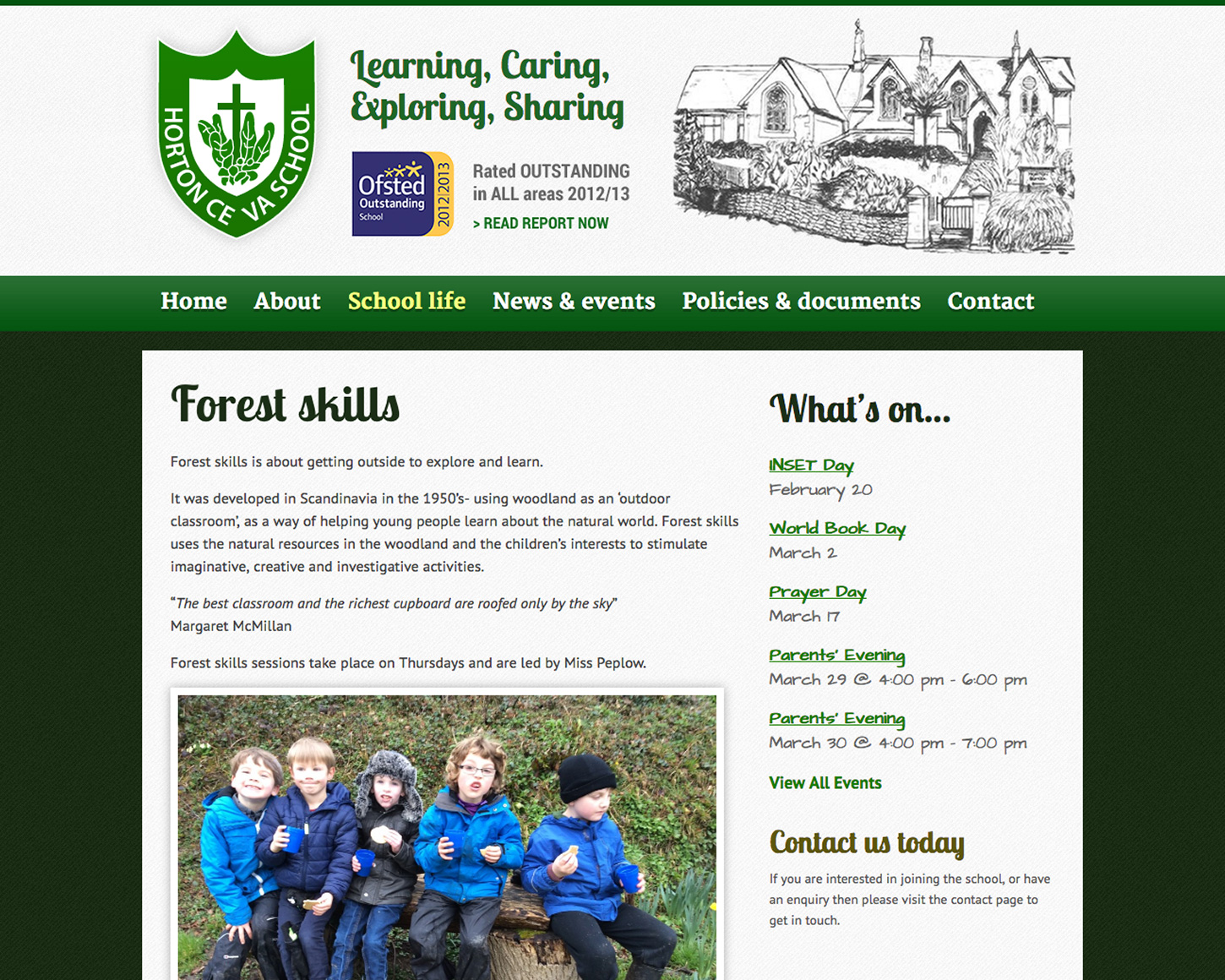 Horton CE VA Primary School website
