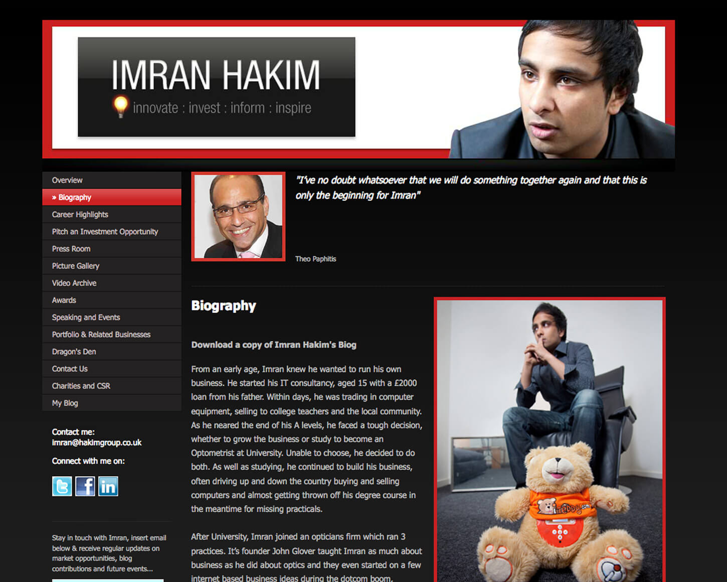 Imran Hakim website