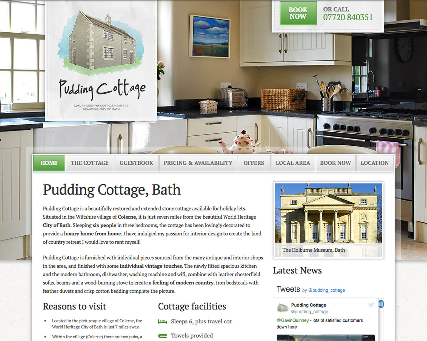 Pudding Cottage website