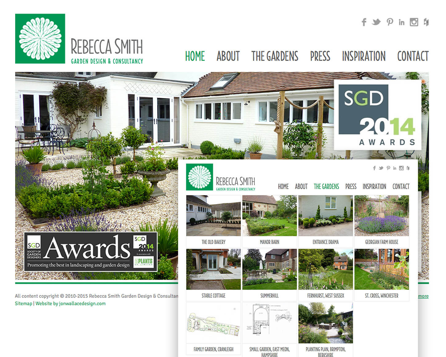 Rebecca Smith Garden Design website